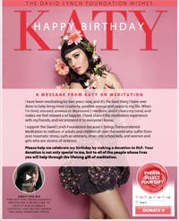 katy perry katy Perry birthday 2012 DLF foundation donation whole entiere image