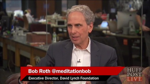 Huffingtonpost-live-meditation-against-terrorism_laughing-together Interview of John Hagelin, Bob Roth